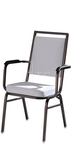 MTS Seating 578 AR Omega II Banquet Stacking Chair Square Back With Arms 18  Inch