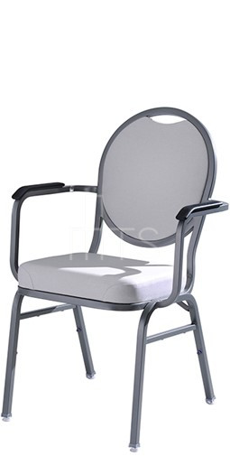 MTS Seating 590 AR Omega II Banquet Stacking Chair Round Back With Arms 18  Inch