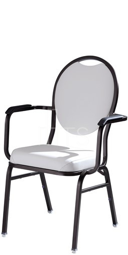 MTS Seating 569 AR Omega I Banquet Stacking Chair Round Back With Arms 18  Inch