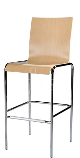 MTS Seating 10 30 SQ Moderne Dining Bar Stool Wooden Seat And Back 30