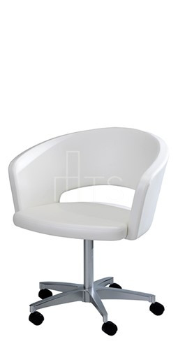 MTS Seating 7523 C I Inessa I Swivel Caster Chair 18 Inch Seat Height