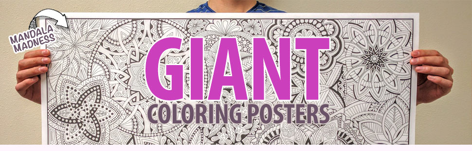 Giant Coloring Posters for Kids and Adults| Stuff2Color