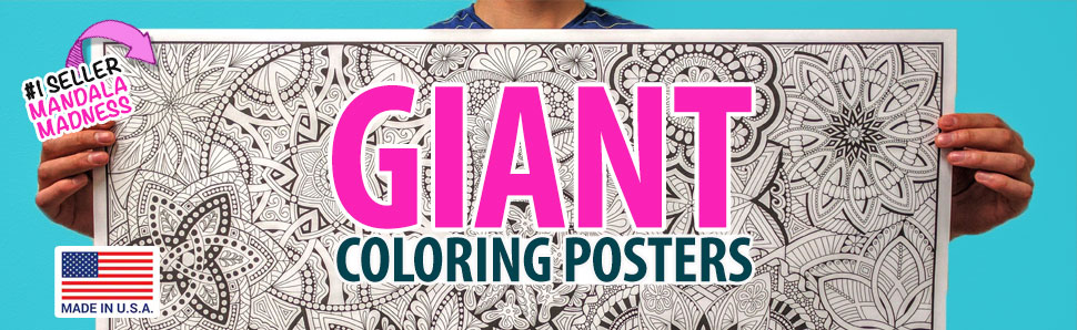 Giant Coloring Posters For Kids, Toddlers, Teens, And Adults. Big Coloring  Posters Of Unicorns, Mandalas, Dragons, Fantasy, Super-Detailed Designs And  More.