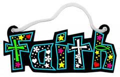 Faith Fuzzy Rope Word