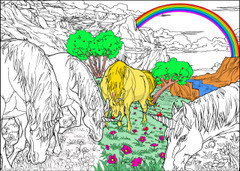 Unicorn Field - 10x14 Coloring Poster
