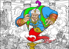 Genie - 10x14 Coloring Poster