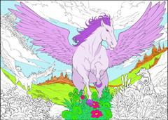 Pegasus - 10x14 Coloring Poster