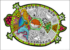 Turtle Coloring Poster