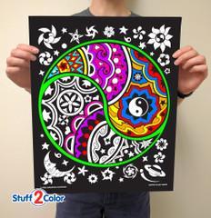 Yin Yang - Fuzzy Coloring Poster