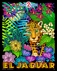 El Jaguar - Fuzzy Velvet Coloring Posters (For Kids and Adults)