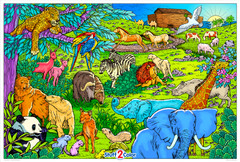 Noah's Ark Celebration (Giant Coloring Poster)