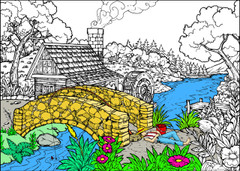 Lazy Summer - 10x14 Coloring Poster