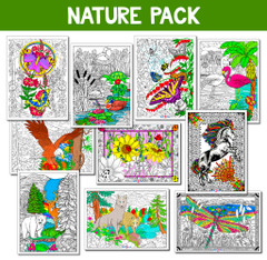 Nature Line Art Value Pack