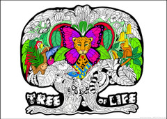 Tree of Life Coloring Poster