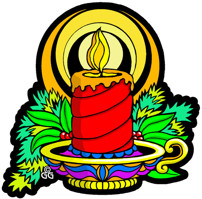 ornament coloring pages candle stick - photo#42