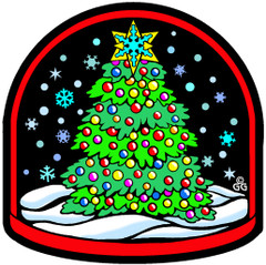 Snow Globe Fuzzy Ornament
