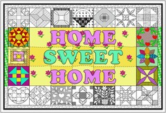 Home Sweet Home Quilt - Giant Coloring Poster for All Ages