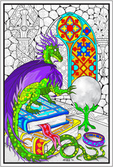 Dragon Crystal Ball - Giant Coloring Poster