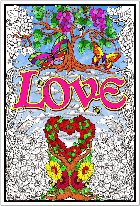 Love Garden - Coloring Poster