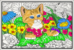 Kitten Paradise - Giant Coloring Poster