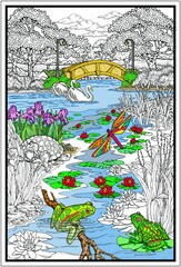 Pond In The Park - Coloring Poster