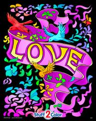 Love Banner - Velvet Coloring Poster
