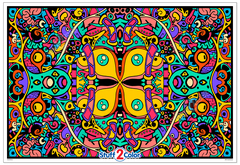 Kaleidoscope - Giant Coloring Poster