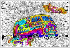 Love Bus - Big Coloring Poster