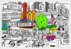 Matinee - Huge Coloring Poster