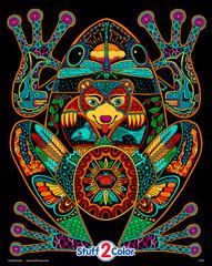 Frog - 16x20 Fuzzy Velvet Coloring Poster Inner Nature