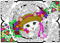Kitten Bouquet - 10x14 Coloring Poster