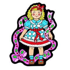 Doll - Velvet Holiday Ornament
