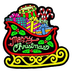 Sled - Velvet Holiday Ornament