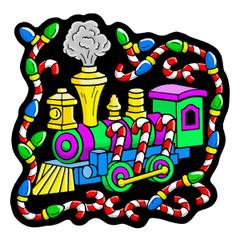 Train - Velvet Holiday Ornament