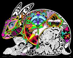 Hare - 16x20 Fuzzy Velvet Coloring Poster Inner Nature