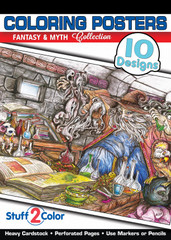 Fantasy & Myth - Coloring Book