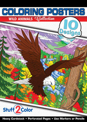 Wild Animals - Adult Coloring Book