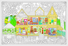 Victorian House - Giant Coloring Poster
