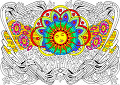 Solar Dream - 10x14 Coloring Poster
