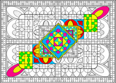 Geo Spaces - 10x14 Coloring Poster