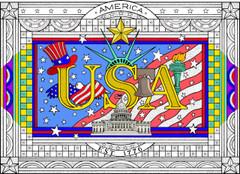 Patriotic - 10x14 Coloring Poster