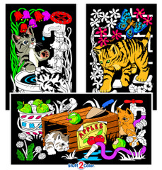 Garden Kitties - Fuzzy Poster 3 Pack
