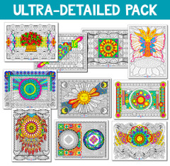 Ultra-Detailed Line Art Bundle - 10 Pack