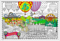 Balloon Festival - Giant Coloring Poster