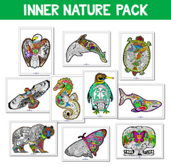 Inner Nature Bundle 10 Pack - 10x14 Coloring Posters