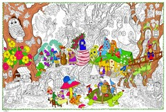 Gnome Home - Giant Coloring Poster