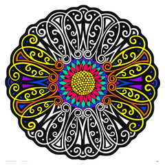 Flower Fuzzy Mandala