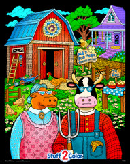 Ma and Pa Egg Farm - Fuzzy Poster