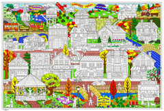 Your Town - Giant Coloring Poster