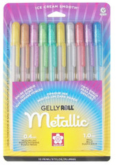 Sakura Metallic 10-Piece Gelly Roll Pens